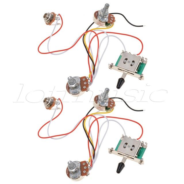 kmise 3 pickup guitar wiring harness prewired with 500k pots 5 way rh aliexpress com