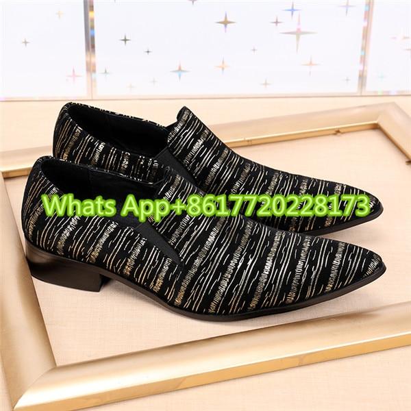 Mocasines Brillo Vestido on Homme Sapato Masculino Chaussure Tacones Zapatos Hombres Punta En Boda Slip Trozo Oxfords Cuero Negro wq61gFw
