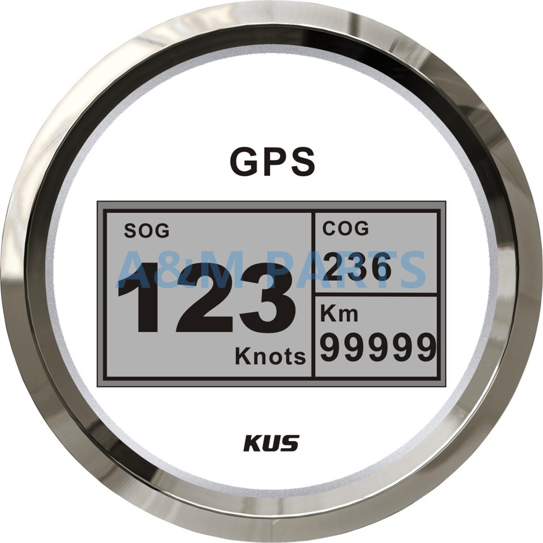 KUS Boat GPS Speedometer Digital Speed Gauge Car Truck Marine 85mm