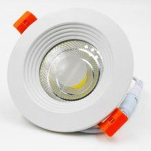 GD COB светильник 7 Вт 10 Вт 12 Вт 15 Вт 20 Вт 30 Вт светодиодный встраиваемый светильник AC85-265V 110 В 220 в 240 В cob-светодиоды с регулируемой яркостью панели света