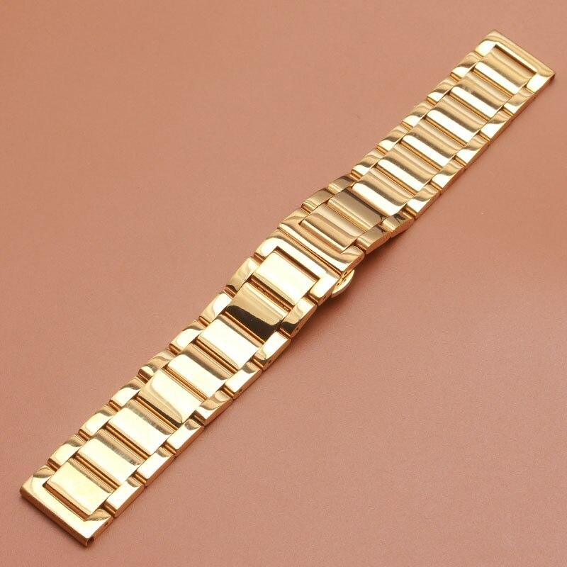 Pulseras de correa de color oro amarillo para relojes de marca de lujo  accesorios para hombres 18mm 20mm 21mm 22mm 23mm 24mm banda de moda en  Correas de ... 799f453f9755