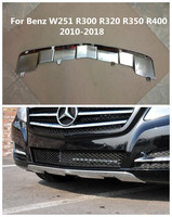 Stainless Steel Car Front + Rear car Bumper Diffuser Protector Guard Skid Plate Fit For Benz W251 R300 R320 R350 R400 2010 2018