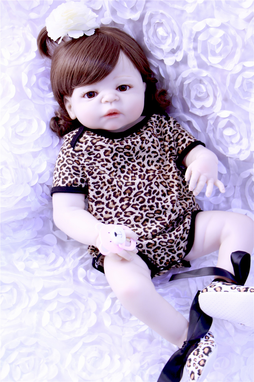 Npk 57cm Real Full Silicone Body Girl Reborn Baby Doll