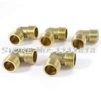 5pcs 90 Degree Elbow 1 2 PT Male To Male M M Equal Brass Pipe Fitting