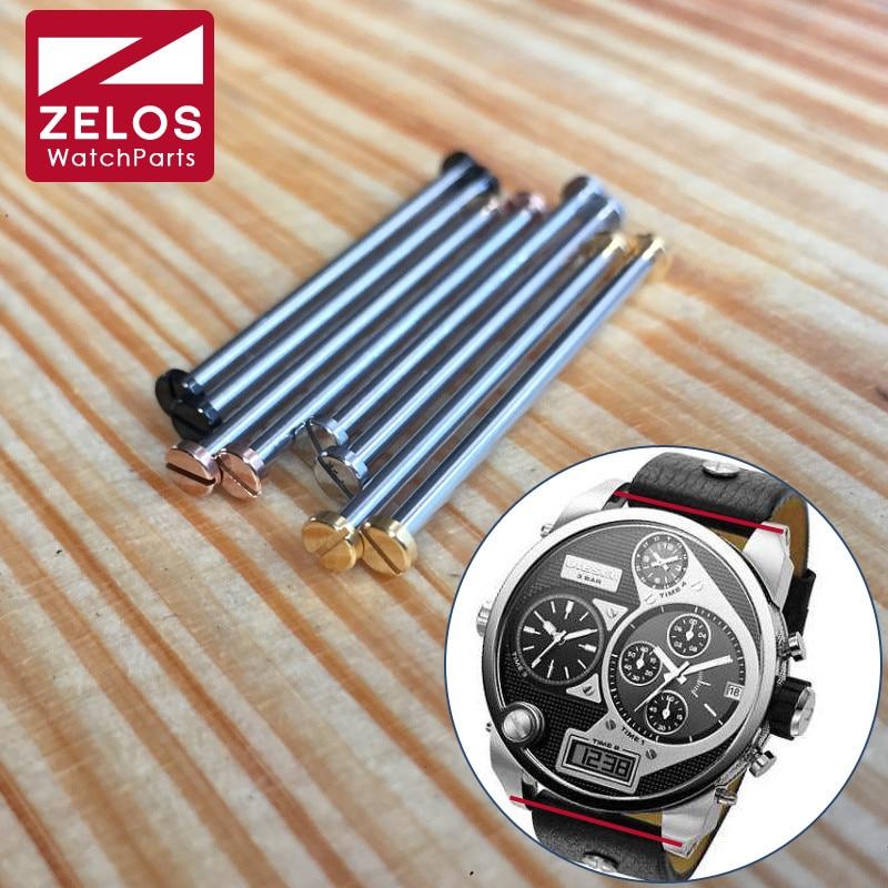 steel 36.5mm watch screw tube ear bar for Diesel Big Daddy watch band case link