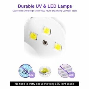 Image 5 - ביצת צורת 3W UV LED מנורת עבור אחת ציפורן אצבע מנורת מסמר ג ל פולני מייבש ייבוש מכונה חכם חיישן 45s / 60s USB מחבר
