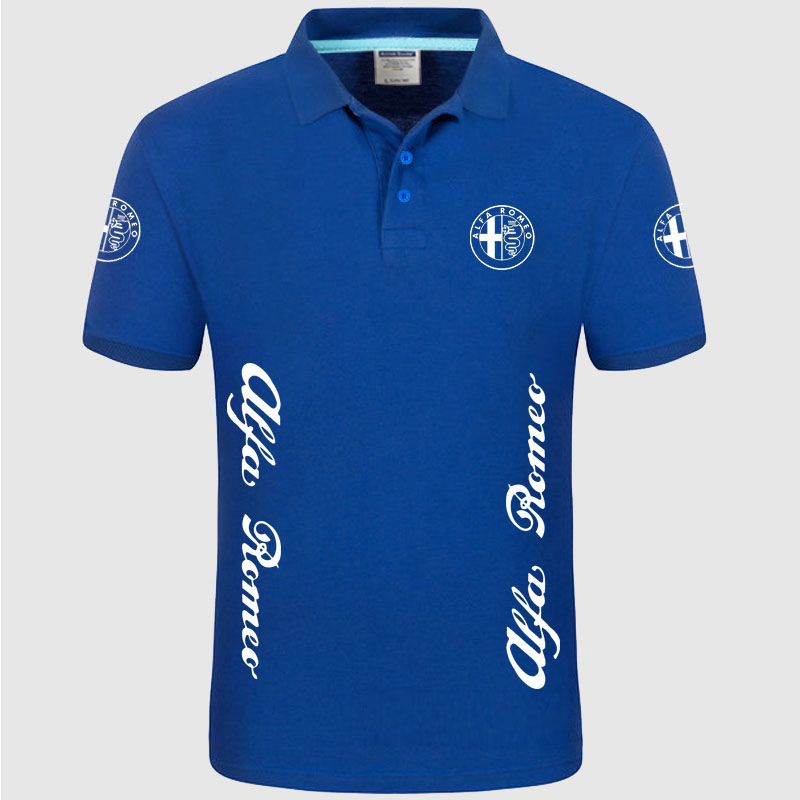 High quality Alfa Romeo logo   Polo   classic brand Men   Polo   Shirt Men Casual solid Short Sleeve cotton   polos