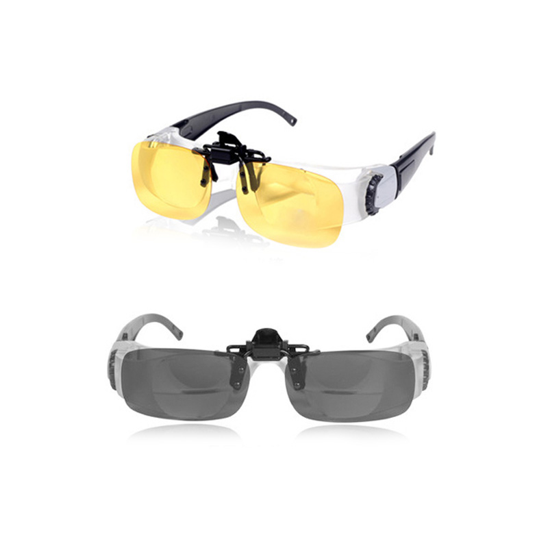 Image 5 - Portable Fishing Glassed Full Frame Glass Telescope Magnifier Binoculars Glasses Outdoor Polarized Sunglasses Accessories T45-in Fishing Eyewear from Sports & Entertainment