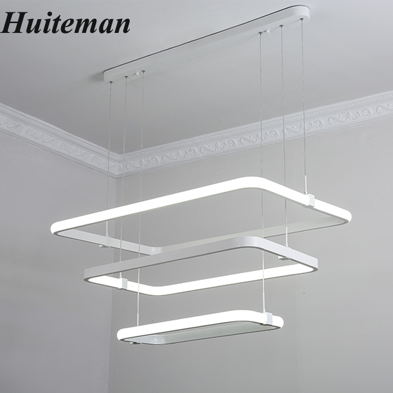 New Fashional Modern Chandeliers Ceiling Circle Led Chandelier Light aluminum Pendant Lamps Living Room Acrylic Bedroom Lighting modern simple crystal chandelier light creative personality crysta chandelier lamps chandeliers lighting living room bedroom