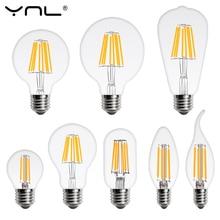 Bombilla LED E27 E14 4W 6W 8W 220V lámpara Retro vela de la vendimia globo de luz bombilla de filamento LED Bombillas bombilla LED Edison