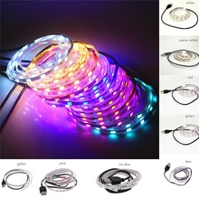 Waterproof 1M DC5V USB LED Strip light SMD 5630 5730 60Leds White/Warm white/Red/Green/Blue/ LED Tape With 50cm USB Cable