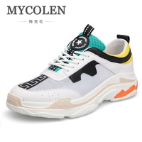 MYCOLEN 2018 New Arrival Autumn New Fashion High Top Casual Shoes Men Elegant Tide Street Style For Man Shoes Zapato Hombre