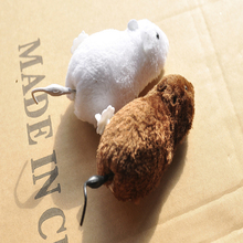 1PC Brown White Plush Running WIND UP Mouse Funny Scary Halloween Tricky Children Toys Random Color Joking Gag Gift for Cat(China)