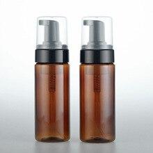 1pcs 150ml brown foam bottle Black foam pump head High grade Brown lotion bottle wholesale BQ059