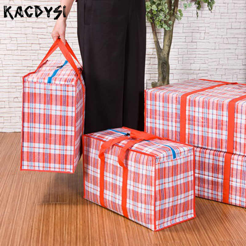 Для мужчин Для женщин человек большой тканые сумка собраться и двигаться супер толстая ткань Оксфорд Водонепроницаемый Чемодан Сумка среднего Размеры 58 см * 42 см * 25 см
