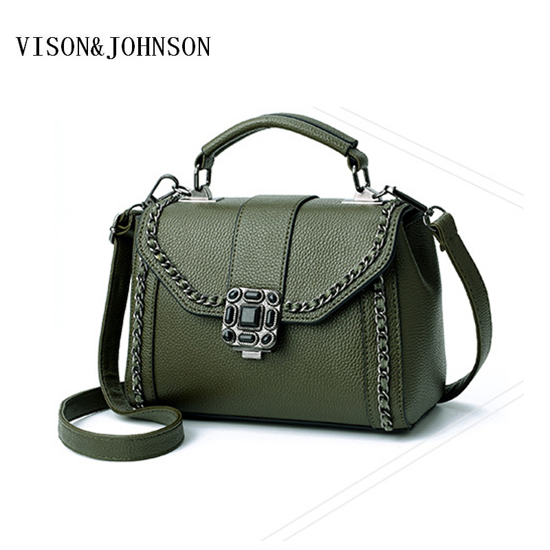 VISON JOHNSON Women Messenger Bags Black Purple Inclined Shoulder Bag  Women s PU Leather Handbags Ladies Crossbody Bag 8b10e3c9a9bb1