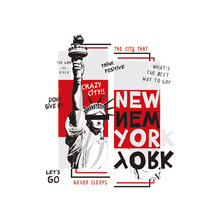Iron On Patch Grazy City New York Easy Print By Household Irons Parches Ropa T-Shirt Diy Decoration A-Level Washable Applique
