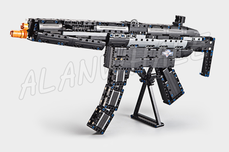 617PCS Model MP5 Shot Gun Weapon For Military Assault Soldier CS GO Elastic Bullet Plastic Gear Shifting Compitable with Lego