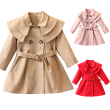 New Girls jacket children s clothing girl trench coat kids jacket hooded girl coats Winter Trench