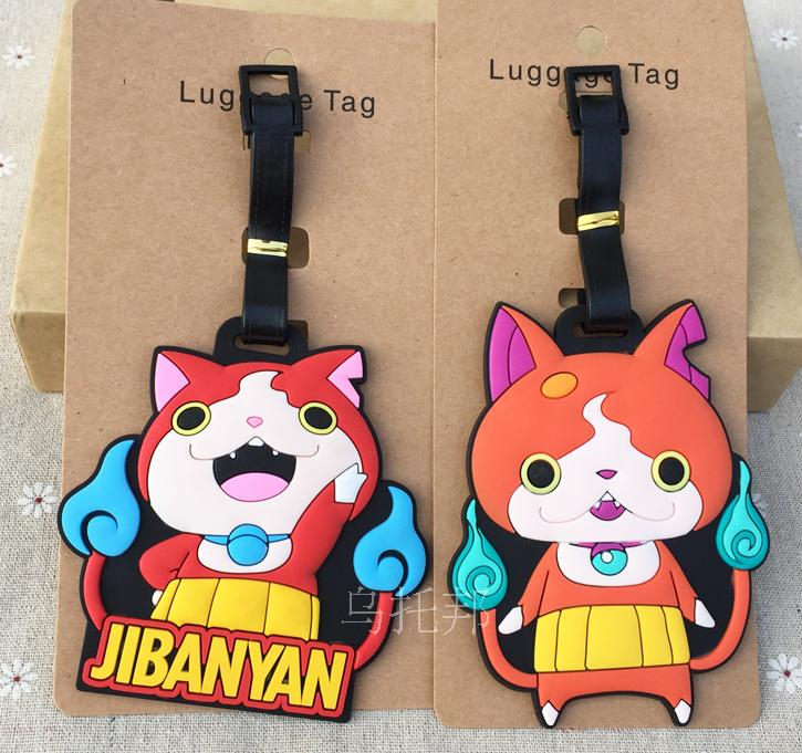 Cat Japan Anime Travel Accessories Luggage Tag Suitcase ID Address Portable Tags Holder Baggage Label Gifts New