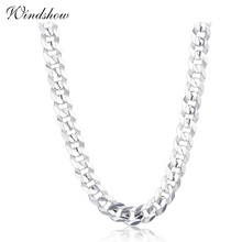 925 Sterling Zilveren Curb Chain Link Kettingen Vrouwen Mannen Sieraden collares kolye Collier Hiphop 50 cm 55 cm 60 cm 4mm 6mm ketting