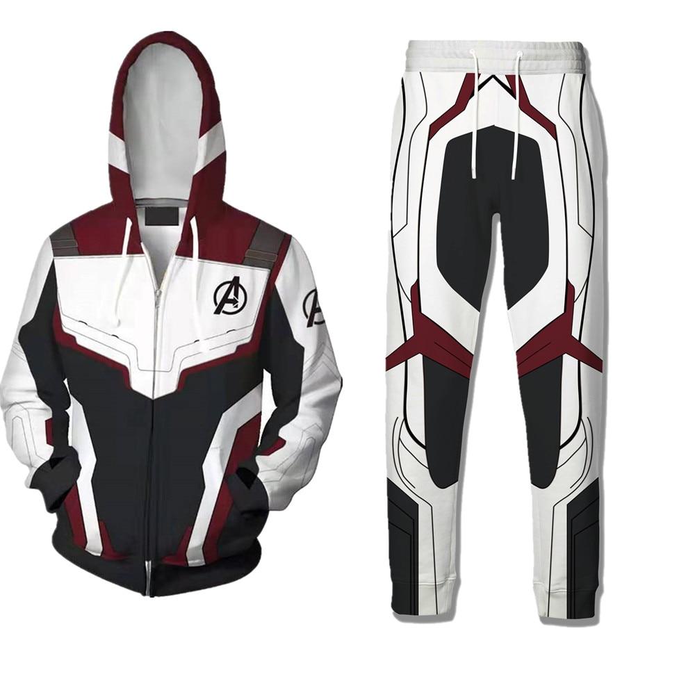 2019 Avengers Endgame Cosplay Quantum Realm Hoodie Costume Zipper Sweatshirt Jacket Avengers Endgame Quantum Deadpool Hoodies