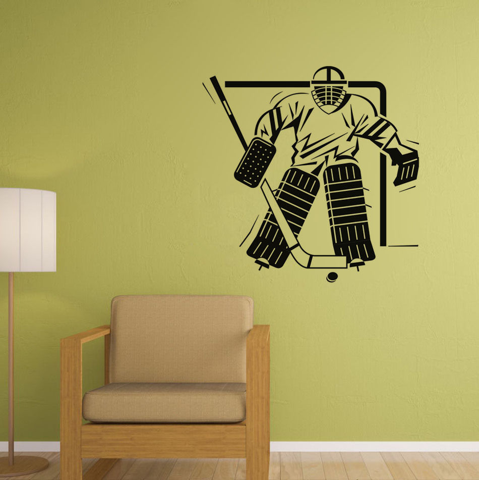 Ice Hockey Wall Decors Bedroom Wall Decorations Sport Wall Decals ...