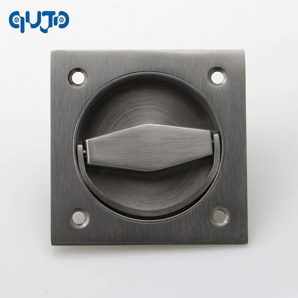 304 Stainless Steel Square  Recessed Cup ring  Flush pull Handle  Invisible door handle electric box handles mini stainless steel handle cuticle fork silver