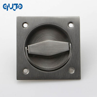 304 Stainless Steel Square Recessed Cup Ring Flush Pull Handle Invisible Door Handle Electric Box