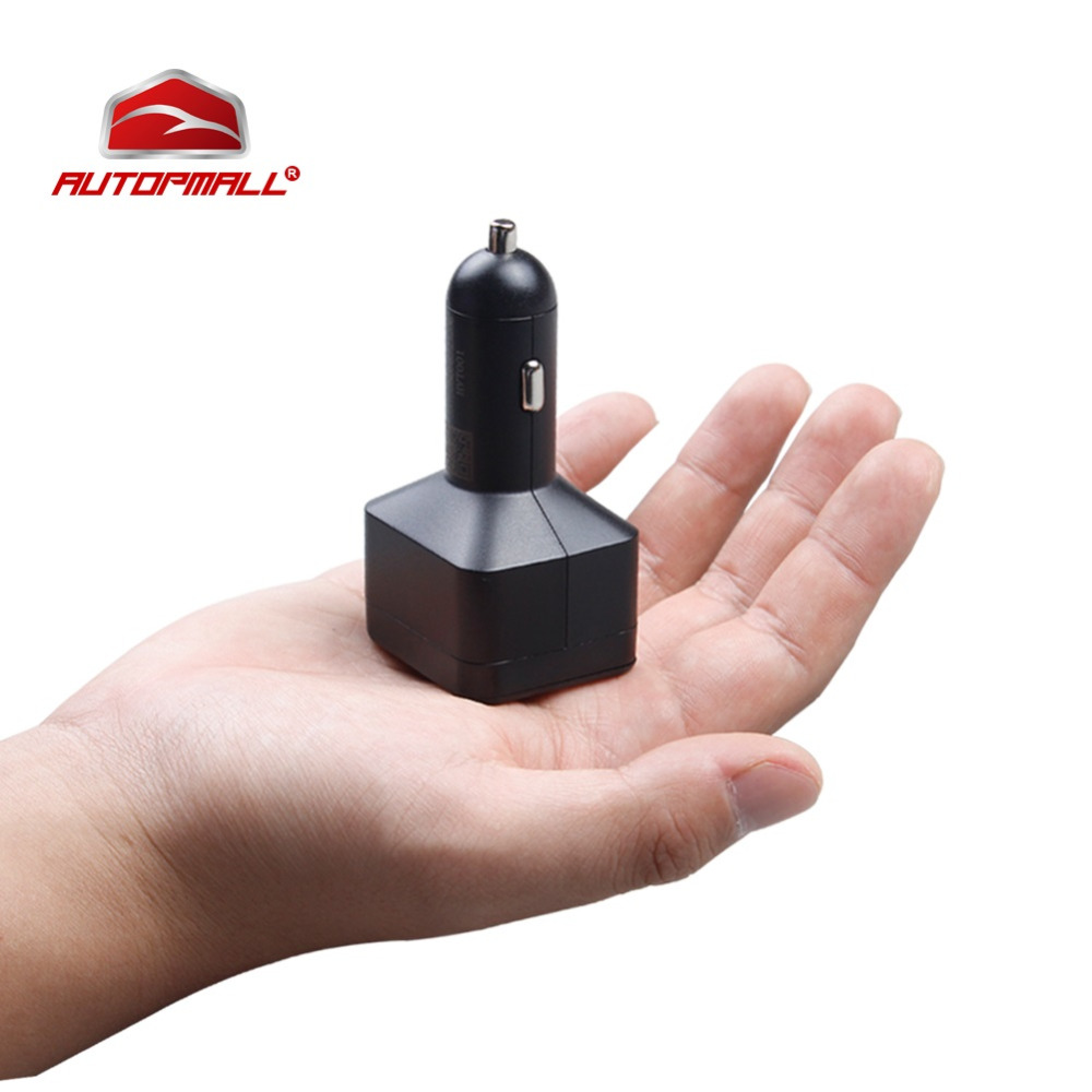 Car Charger Mini GPS Tracker Car GPS Locator Concox Voice Monitor Geo-fence Dual Charging Port SOS Realtime Tracking LBS Web APP