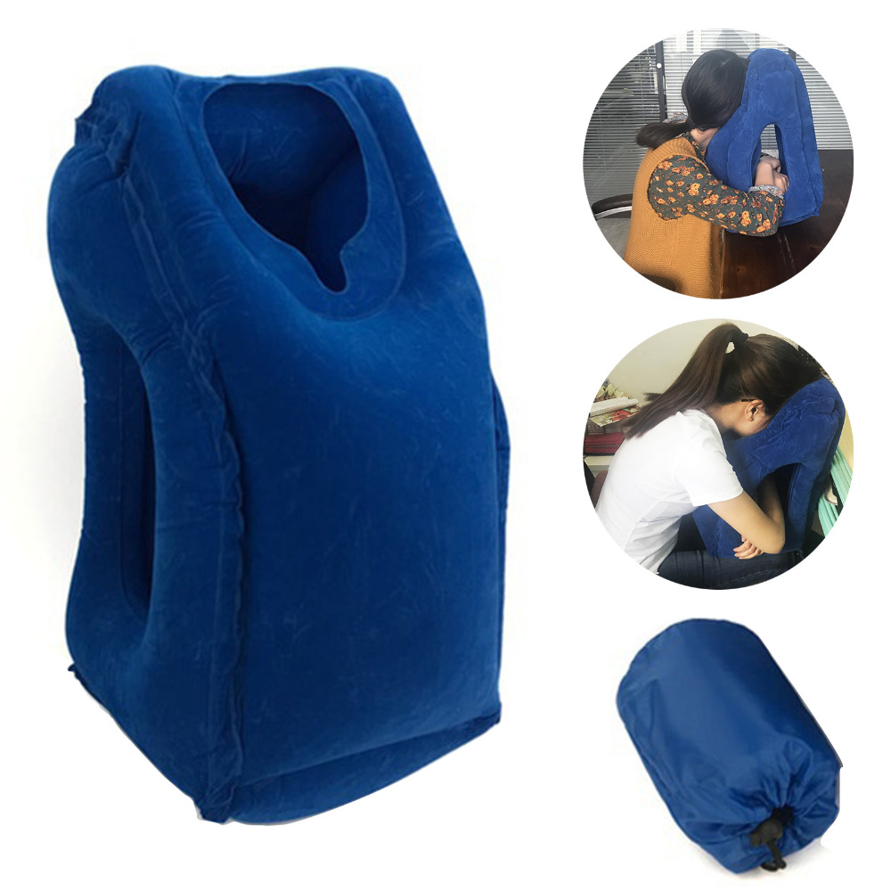5 Colors Inflatable Travel Pillow Cushion Innovative
