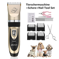 BaoRun Professional Pet Cat Dog Hair Trimmer Dog Grooming Kit Rechargeable Electrical Clipper Shaver with Many Accessories