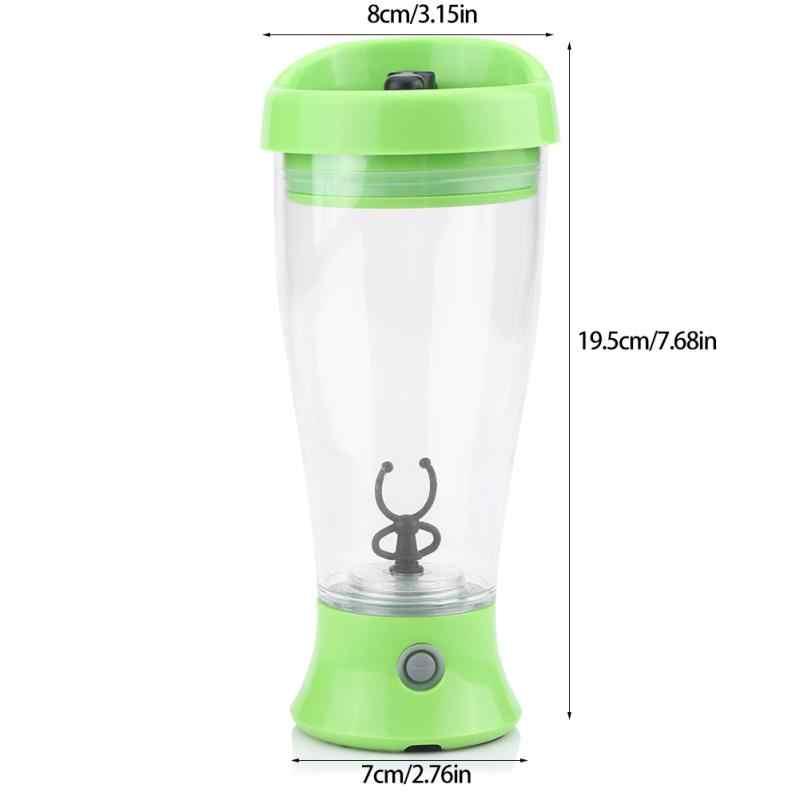 15 OZ/450 ml Elétrica liquidificador shaker proteína garrafa de água Vórtice vórtice tornado bpa livre destacável movimento automático inteligente mixer