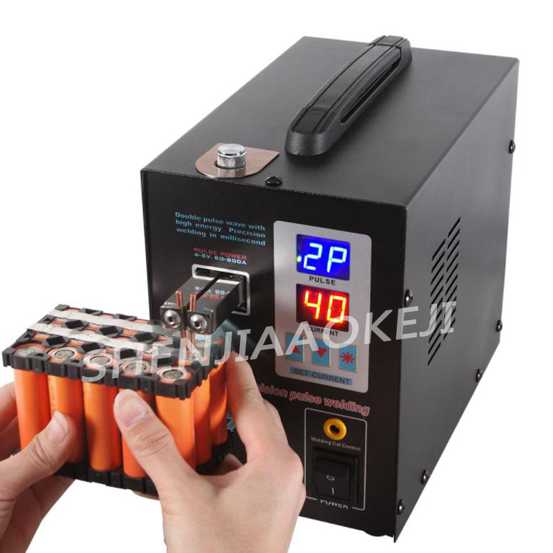 AC110V/220V battery spot welder 737G Dual mode foot battery spot welder Double pulse double display battery welding machine