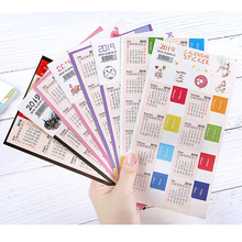 4 designs 2019 Calendar Sticker Notebook Index Monthly Categ