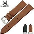 Maikes venta caliente correa de piel genuina para delgado moda hombres y de mujeres correa de reloj 18 mm 20 mm 22 mm banda de reloj de cuarzo