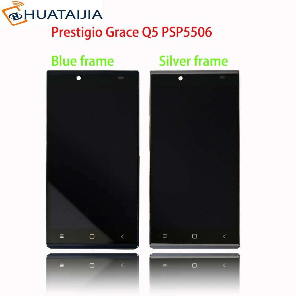5 LCD Display + Touch screen For Prestigio Grace Q5 PSP5506DUO PSP5506 PSP 5506 DUO digitizer panel sensor lens glass Assembly 8 inch touch screen for prestigio multipad wize 3408 4g panel digitizer multipad wize 3408 4g sensor replacement
