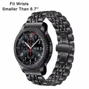Image 2 - Correa de reloj de acero inoxidable para Samsung Gear S3 Classic Frontier R760 R770, Correa deportiva, pulsera