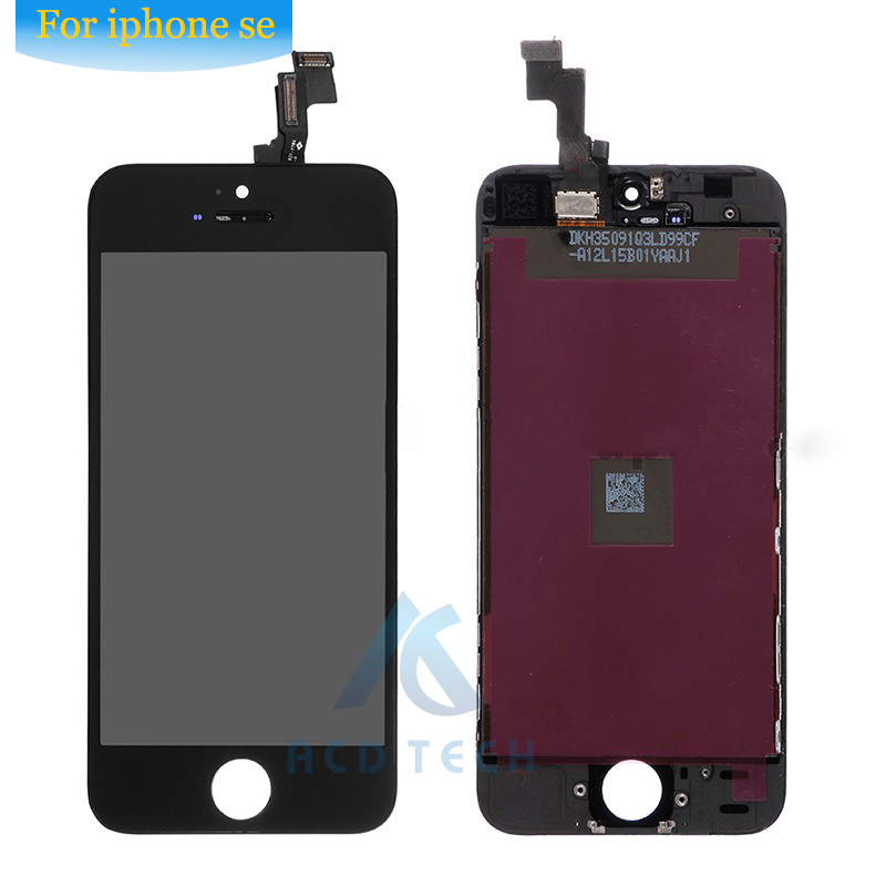 Grade AAA No Dead Pixel For iPhone SE  LCD Display With Touch Screen Digitizer Assembly Black&White Free Shipping 5pcs lot grade aaa no dead pixel for iphone 6 plus lcd display with touch screen digitizer assembly black