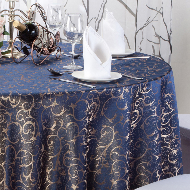 High Quality Luxurious Round Table Cover Rectangle Table