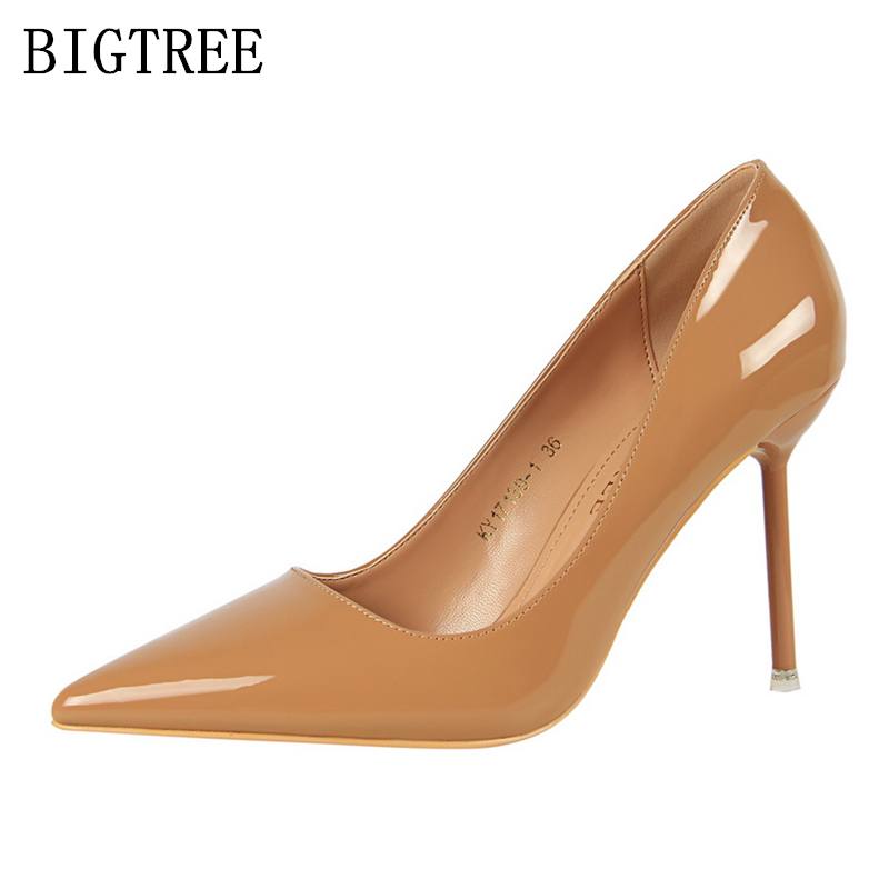 db8affa43cb US $20.28 49% OFF|Bigtree shoes woman pumps ladies extreme high heels  designer shoes women luxury 2019 high heel wedding shoes bridal red  black-in ...