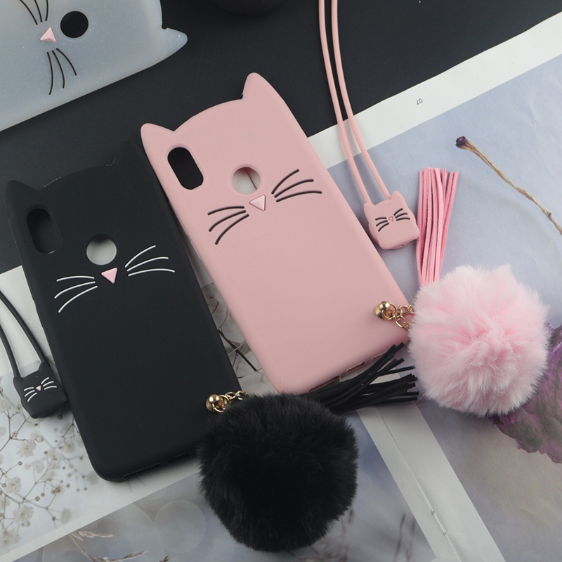 Fitted Cases 3d Cute Japan Glitter Lovely Cat Case For Samsung Galaxy J7 Max G615f J7max Cover Tassel Pendant Rabbit Fur Hair Ball Case Always Buy Good
