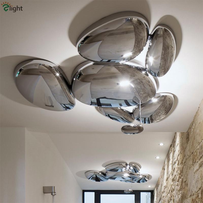 Modern Skydro Led Ceiling Lamp Mercury Led Ceiling Light Luminaria Lustre Chrome Metal Living Room Ceiling Lights Fixtures