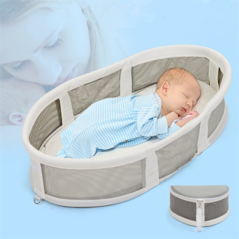 Lit enfant multifonctionnel lit de voyage pour enfant nouveau-né Portable étanche berceau tricoté coton pliable panier de couchage nid