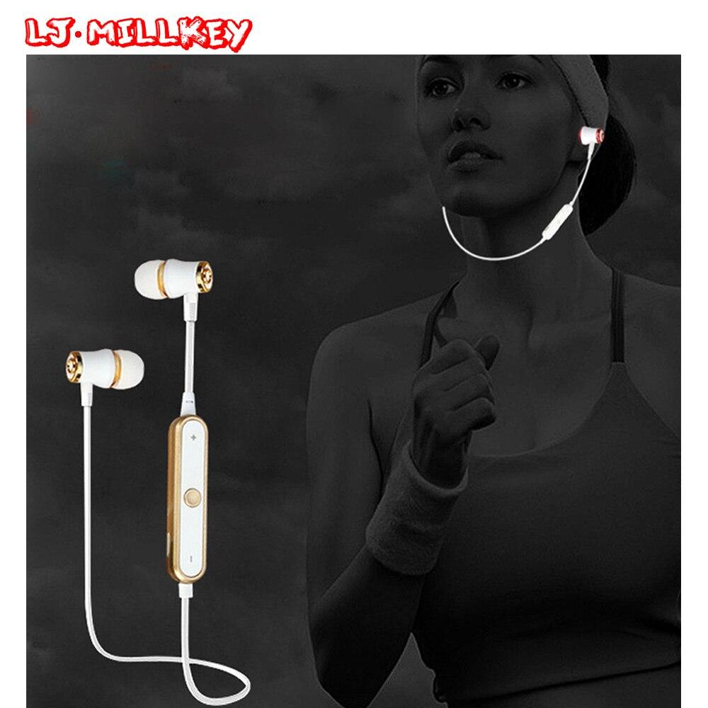 S6 Wireless Sports Bluetooth Earphone Sweatproof Stereo Bluetooth Headset Earbud Noise Cancelltion for Gym Work LJ