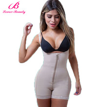 Lover Beauty Fajas Reductora Zipper and Clip Latex Waist Trainer Firm Control Body Shapewear Bodysuit Butt Lifter Hot Shapers