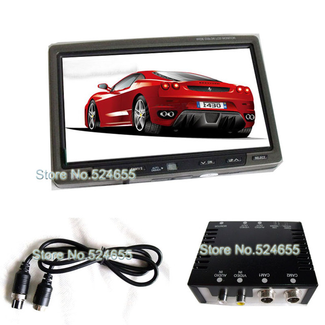 12V ~24VDC 7inch monitor High quality car camera system for superviser and rear view(  20meter video and power extension cable)