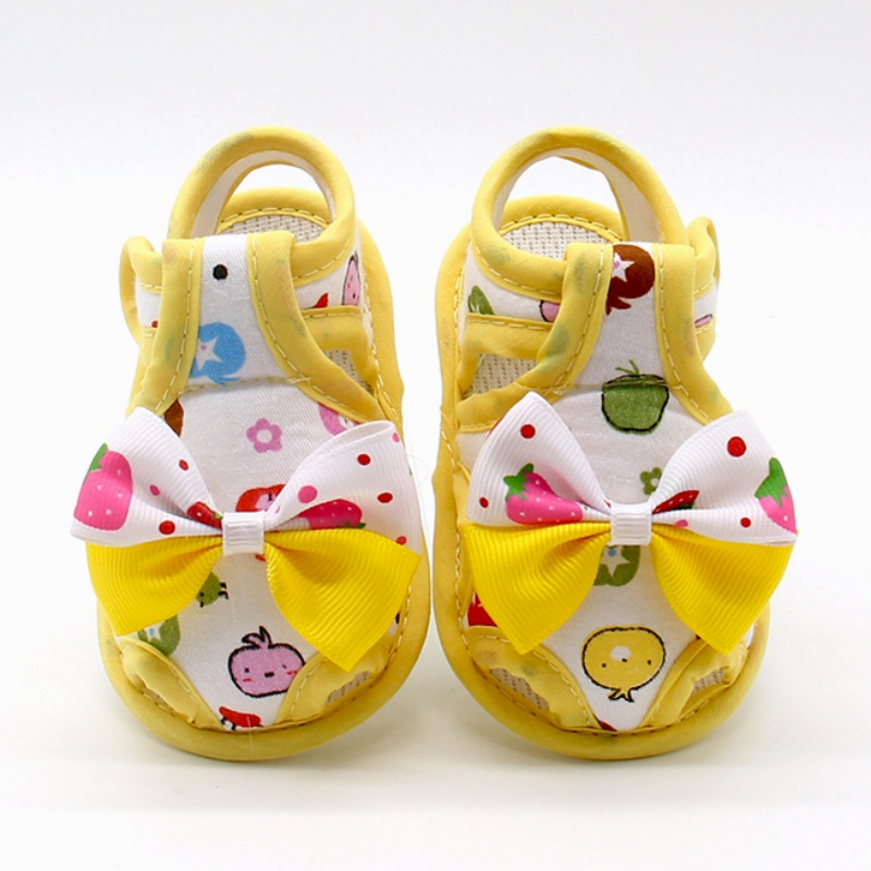 Summer Cute Toddlers Bow Soft Sole Baby Shoes Kids Girls Skid Proof Princess First Walker 2017