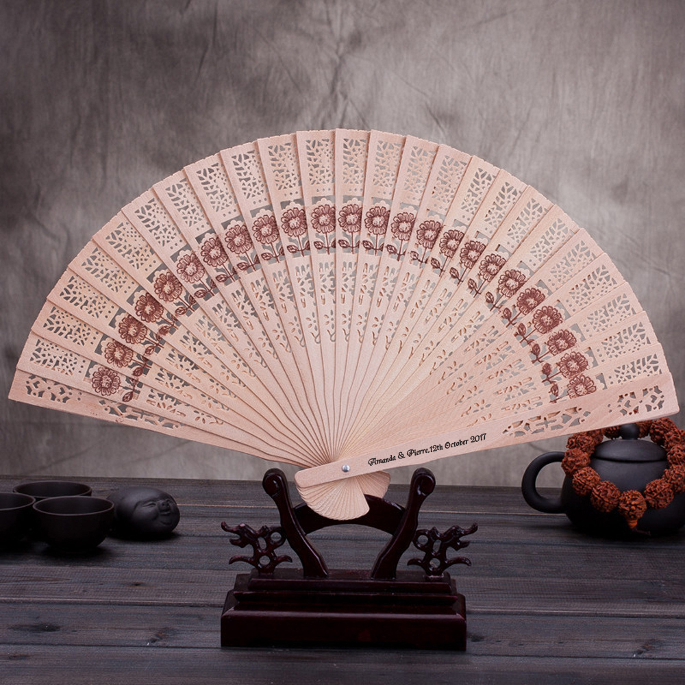 Free Shipping 10pcs/lot Personalized Folding Hollow Carved Hand Fan ...