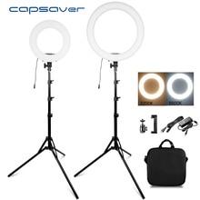 """Capsaver 14 """"18"""" リングライト化粧ランプ 2 色 3200 K 5500 18K CRI90 リングライト環状ランプビデオ写真撮影 YouTube 写真"""